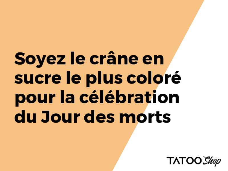 Soyez le crâne en sucre le plus coloré pour la célébration du Jour des morts