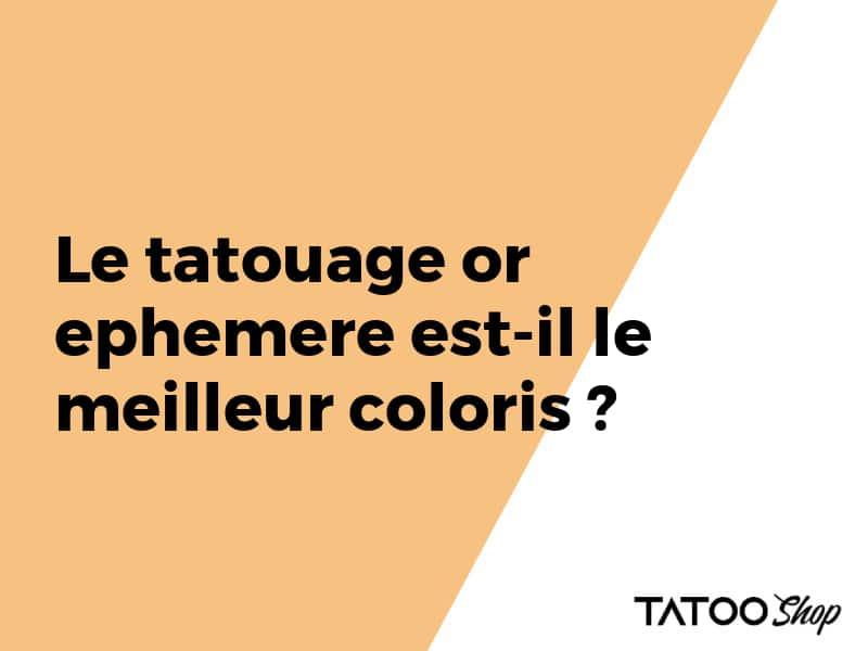 Tatouage ephemere