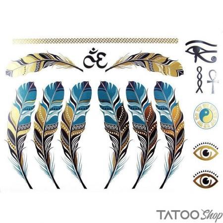 Tatouage ephemere plume d'egypte