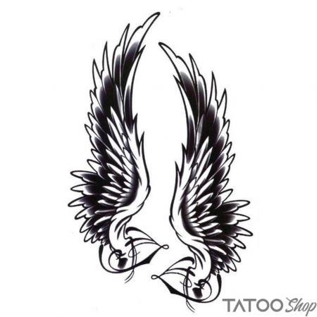Tatouage ephemere ailes