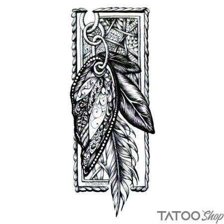 Tatouage ephemere plumes de la chance