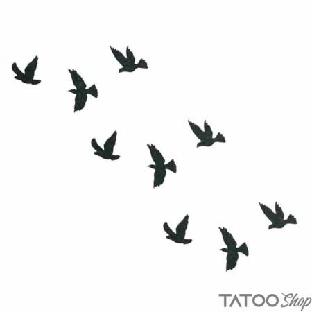 Tatouage ephemere petits oiseaux