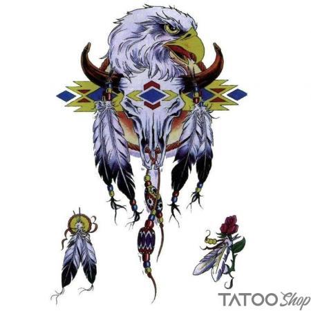Tatouage ephemere animaux aigle navajo
