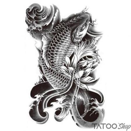 Tatouage ephemere poisson koï