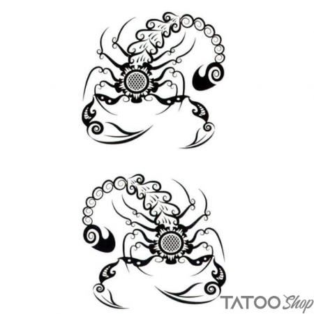Tatouage ephemere scorpion tribal