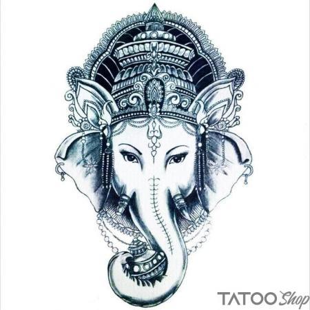 Tatouage ephemere ganesha le dieu éléphant