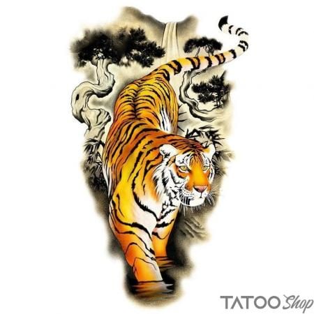 Tatouage ephemere la touche blanche du tigre