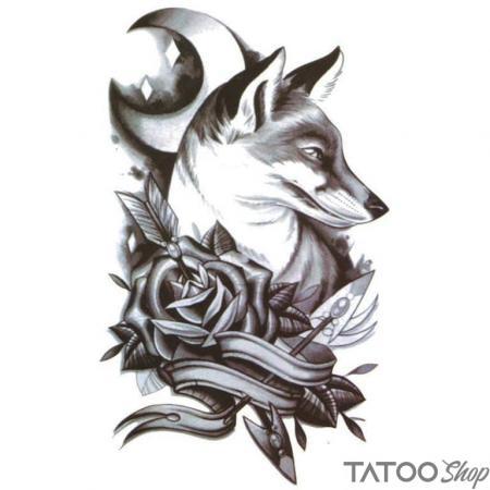 Tatouage ephemere renard de nuir