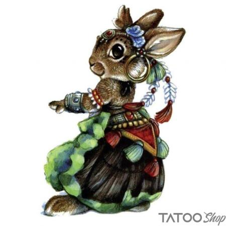 Tatouage ephemere lapin gyspy