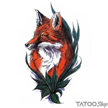 Tatouage ephemere couleur du renard