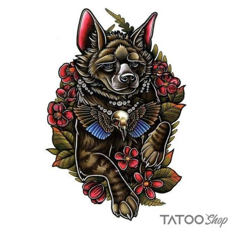 Tatouage ephemere le loup cesar