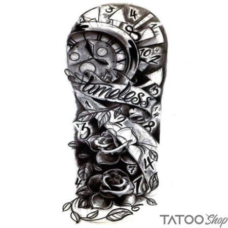 Tatouage ephemere bras intemporel