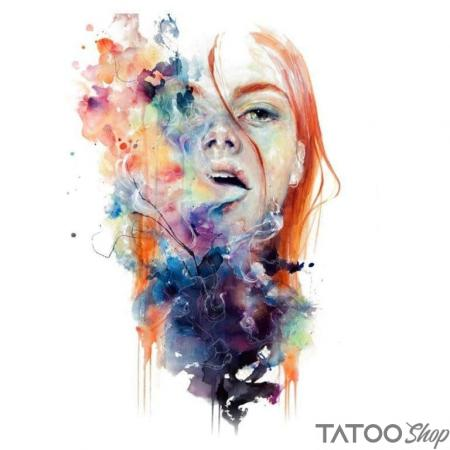 Tatouage ephemere fille qui fume