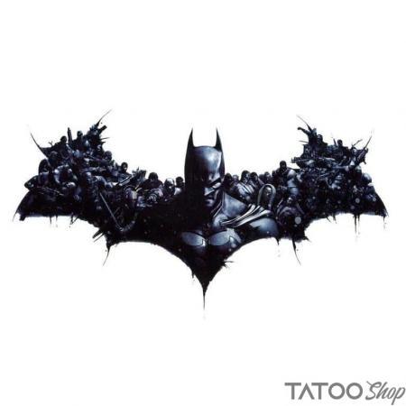 Tatouage ephemere batman