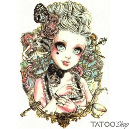 Tatouage ephemere poupée fille