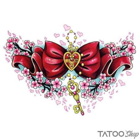 Tatouage ephemere nœud papillon magique