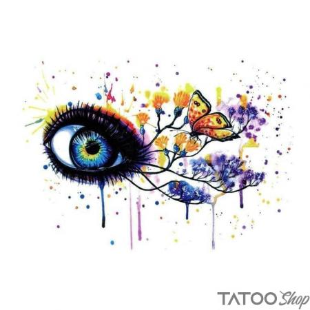 Tatouage ephemere œil de papillon