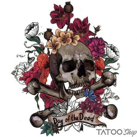 Tatouage ephemere jour des morts