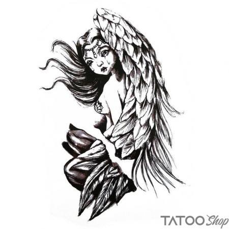 Tatouage ephemere larme d'ange