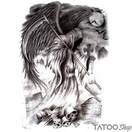 Tatouage ephemere ange de la mort