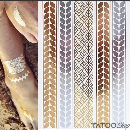 Tatouage ephemere or métallisé