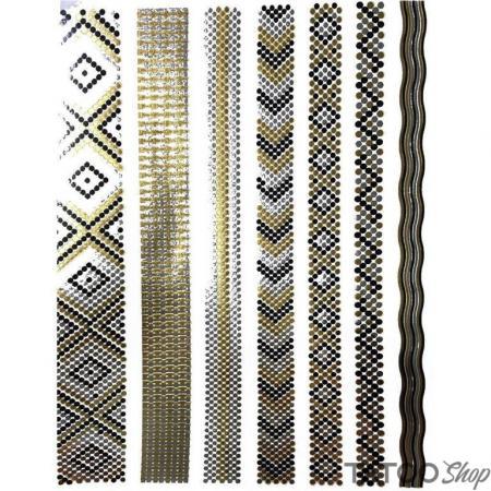 Tatouage ephemere bracelet or