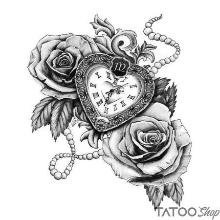 Tatouage ephemere rose vs temps