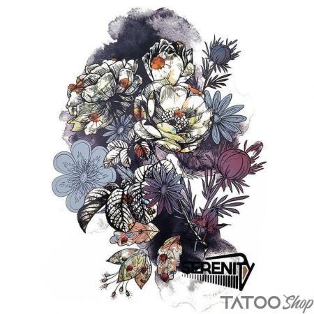 Tatouage ephemere couronne de la petite fleur