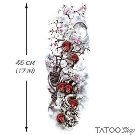 Tatouage ephemere l'arbre enchaîné - Manche