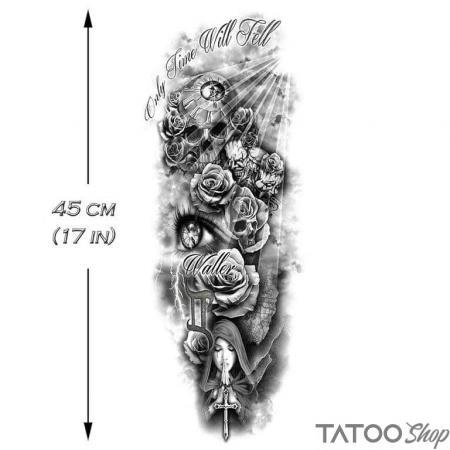 Tatouage ephemere manche les morts du temps