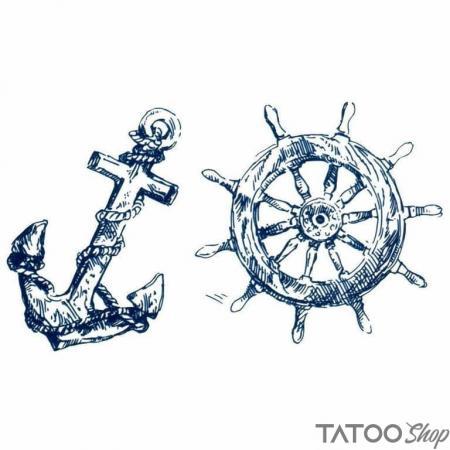 Tatouage ephemere marin