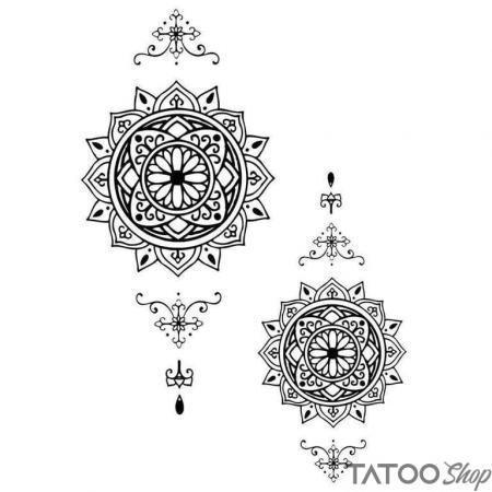 Tatouage ephemere tour mandala