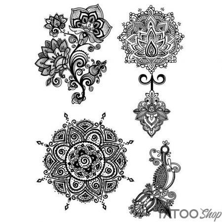 Tatouage ephemere mandala sacrés