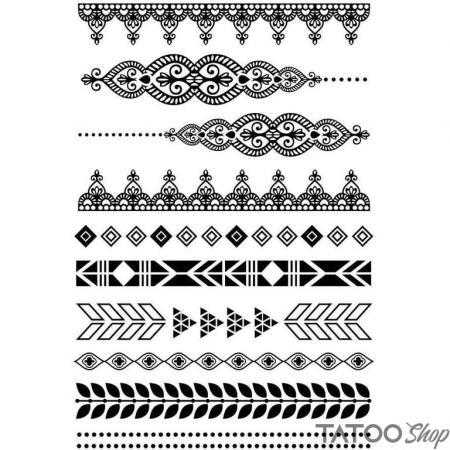 Tatouage ephemere bracelets et ornements