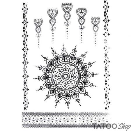 Tatouage ephemere motif au henné