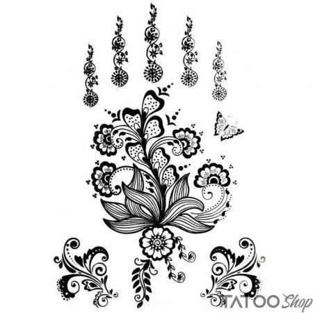 Tatouage ephemere motifs au henné