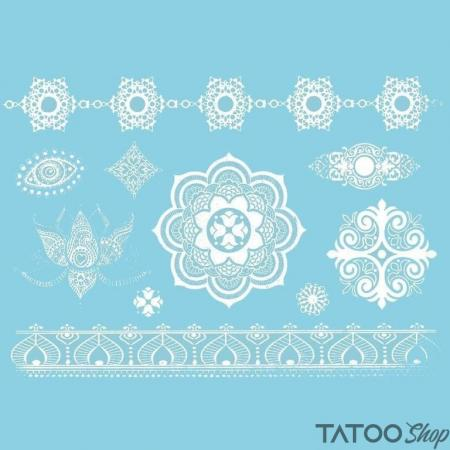 Tatouage ephemere motif mandala collection blanche