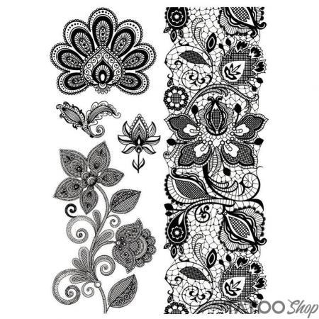 Tatouage ephemere style henné au poignet