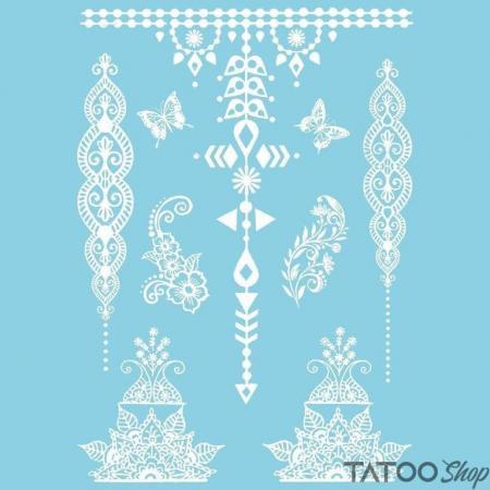 Tatouage ephemere henné blanc