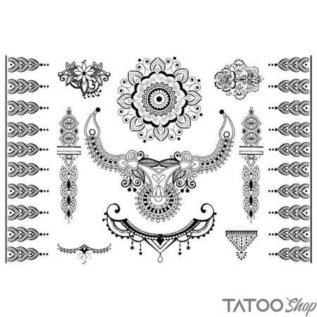 Tatouage ephemere au henné style célébration