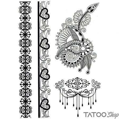 Tatouage ephemere grand motif au henné
