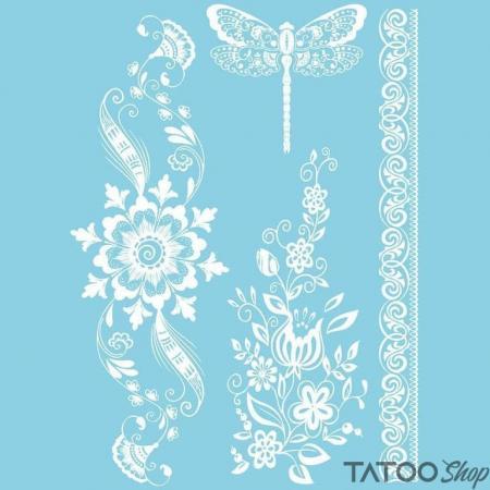 Tatouage ephemere libellule et henné blanc
