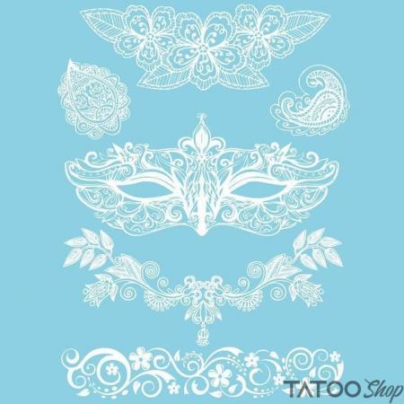 tatouage ephemere femme henné blanc