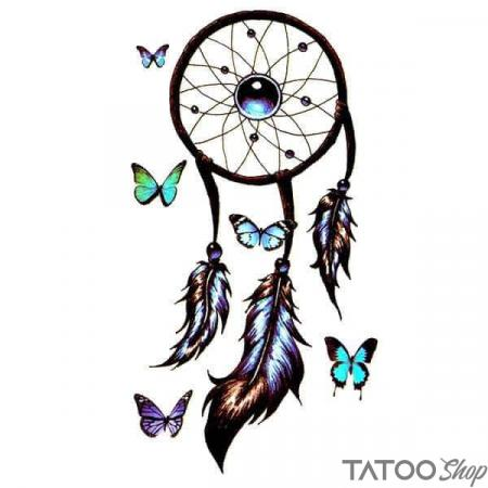 Tatouage ephemere attrape reve papillon