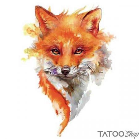 Tatouage ephemere peinture renard
