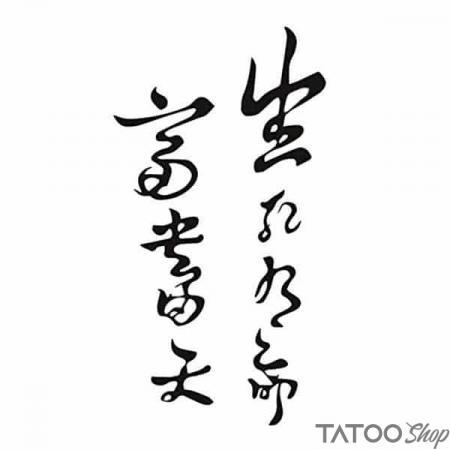 Tatouage ephemere écriture chinoise