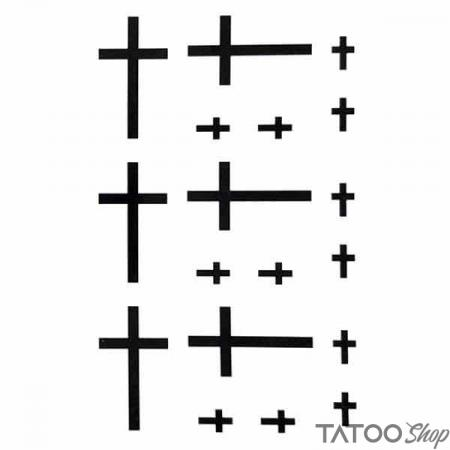 Tatouage ephemere petites croix réligieuses