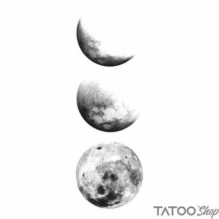 Tatouage ephemere pleine lune