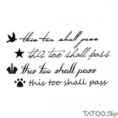 Tatouage ephemere lettre ça va passer