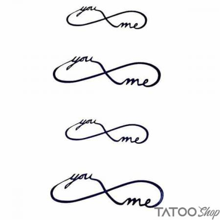 Tatouage ephemere you & me